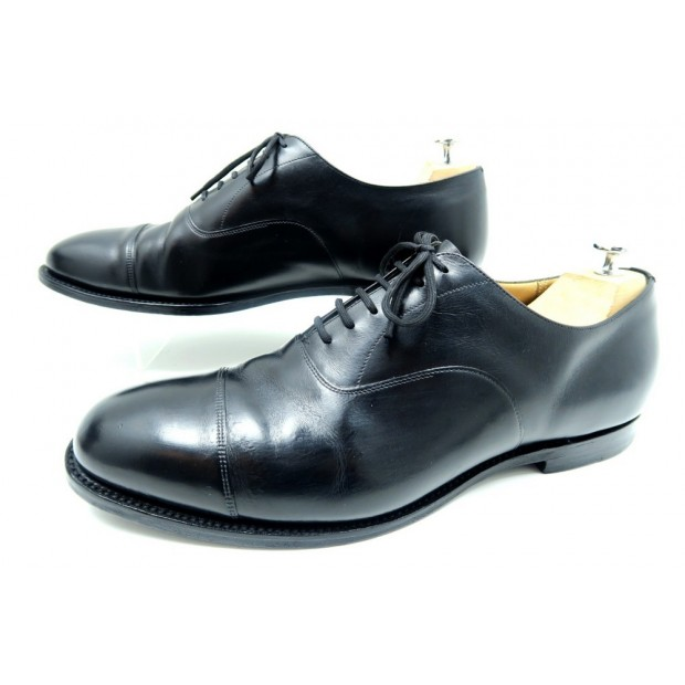 CHAUSSURES CHURCH'S CONSUL RICHELIEU 12G 46 LARGE CUIR NOIR BLACK SHOES 590€
