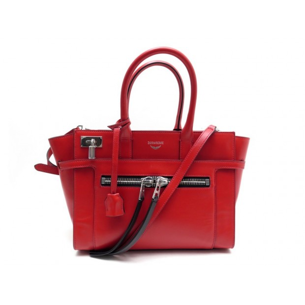NEUF SAC ZADIG ET VOLTAIRE CANDIDE CUIR ROUGE + BANDOULIERE