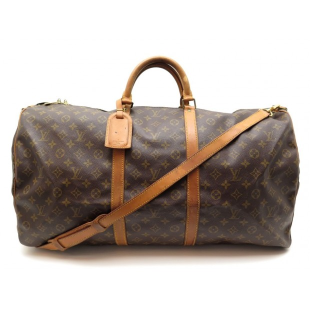 AAM0529 110 Louis Vuitton Keepall 60 Brown Monogram Canvas