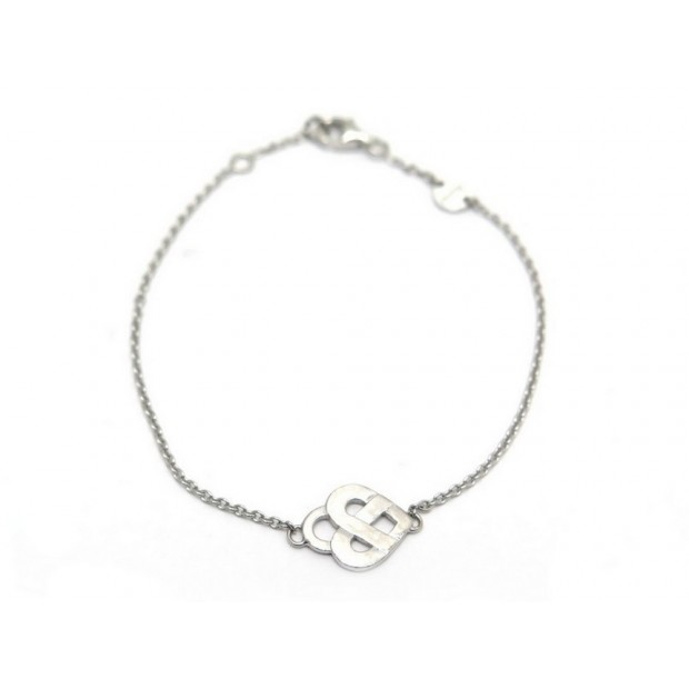 BRACELET POIRAY COEUR ENTRELACE OR BLANC