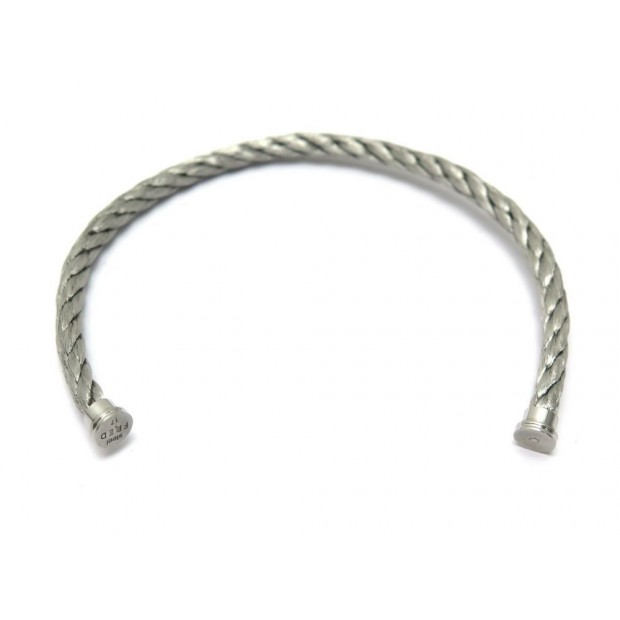 NEUF CABLE BRACELET FRED FORCE 10 ACIER TAILLE 17