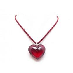 NEUF COLLIER BACCARAT ROMANCE EN CRISTAL ROUGE COEUR + BOITE HEART NECKLACE 295€