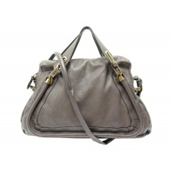 SAC A MAIN CHLOE PARATY GM BANDOULIERE CUIR GRAINE TAUPE LEATHER HANDBAG 1600€