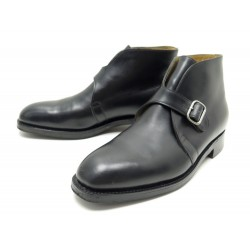 CHAUSSURES JOHN LOBB VARESE 7.5F 41.5 BOTTINES A BOUCLE CUIR NOIR BOOTS 1095€