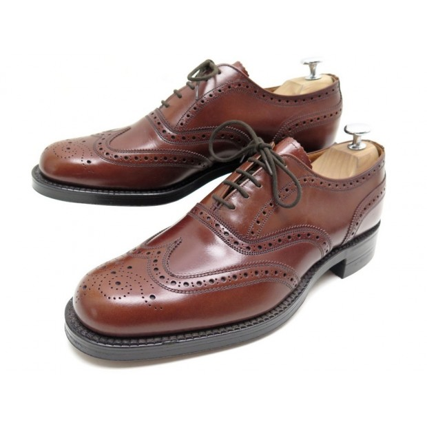 CHAUSSURES CHEANEY OF ENGLAND BY CHURCHS CUIR MARRON 7.5 41.5