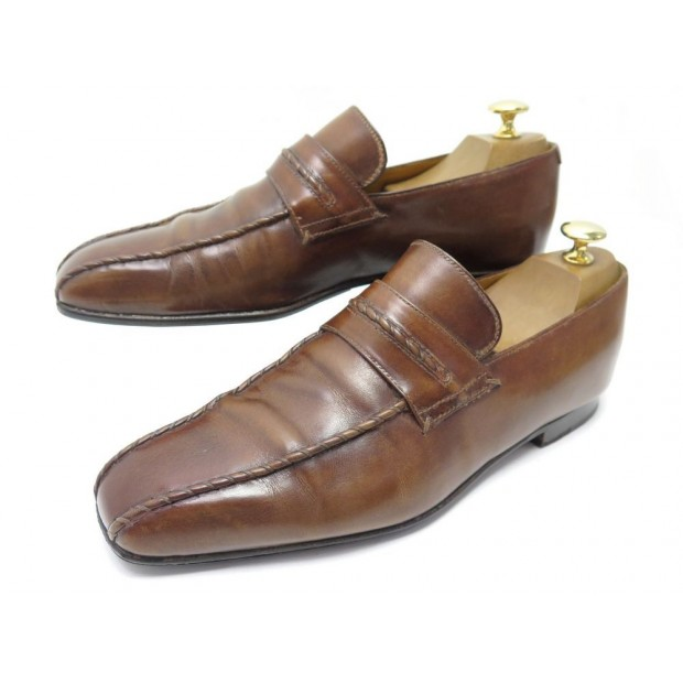 CHAUSSURES BERLUTI MOCASSINS COUTURES CICATRICES MARRON