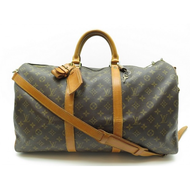 AAL3796 100B Louis Vuitton Keepall Bandouliere 50 Brown Monogram Canvas