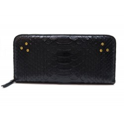 NEUF PORTEFEUILLE MALCOLM JEROME DREYFUSS CUIR PYTHON