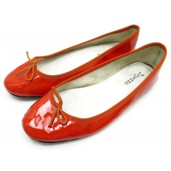 CHAUSSURES REPETTO CENDRILLON 39.5 BALLERINES CUIR VERNI ROUGE FLAT SHOES 195€