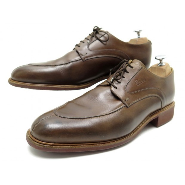 CHAUSSURES PARABOOT AVIGNON 9.5 43.5 DERBY CUIR MARRON BROWN LEATHER SHOES 380€
