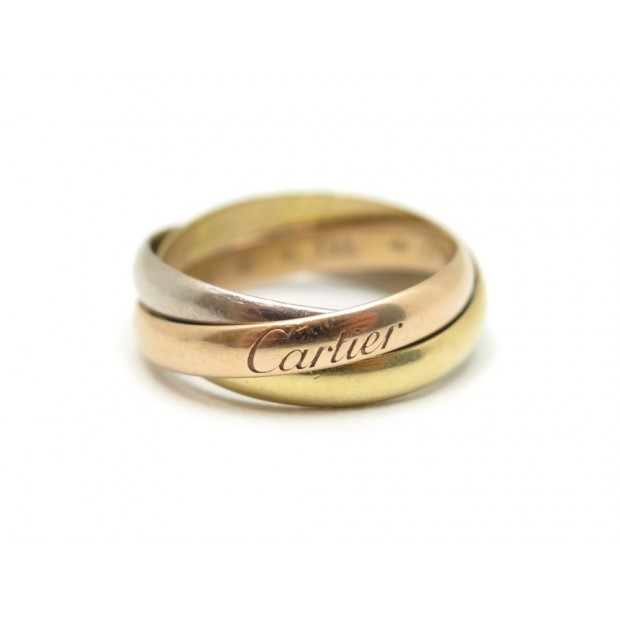 BAGUE CARTIER TRINITY PM B4086100 TAILLE 48 OR JAUNE ROSE BLANC GOLD RING 940€