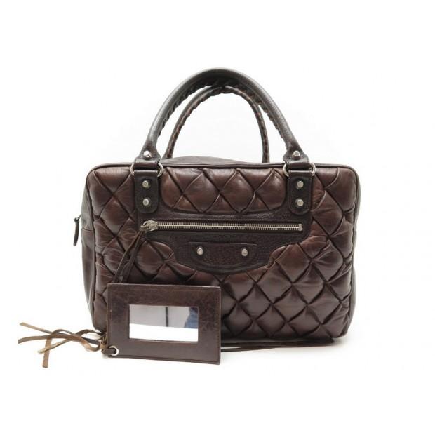 SAC A MAIN BALENCIAGA POLLY CLASSIC 168031 MM EN CUIR MATELASSE HAND BAG 1600€