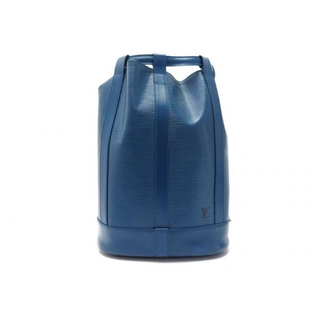 SAC A DOS LOUIS VUITTON RANDONNEE CUIR EPI BLEU BLUE LEATHER BACKPACK BAG 1650€