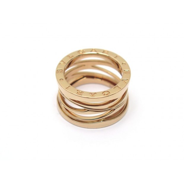 NEUF BAGUE BULGARI B ZERO1 DESIGN LEGEND 2337AL OR ROSE