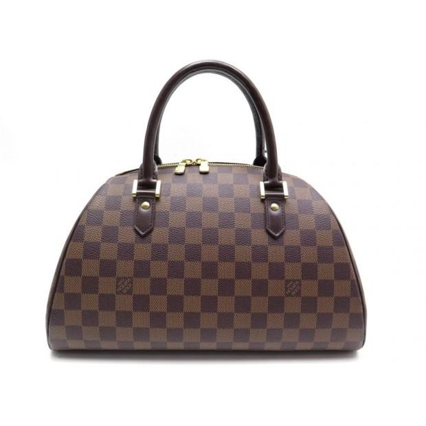 SAC LOUIS VUITTON RIBERA MM N41434 EN TOILE DAMIER EBENE HAND BAG 1005€