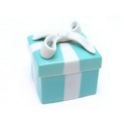 NEUF BOITE TIFFANY & CO EN PORCELAINE BLUE TRINLET BOW JEWELRY