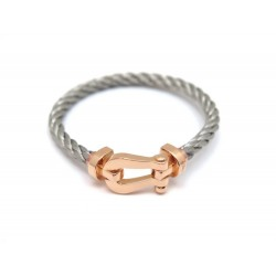 NEUF BRACELET FRED FORCE 10 0B0007-6B0111 T14 MANILLE OR ROSE CABLE ACIER 2450€