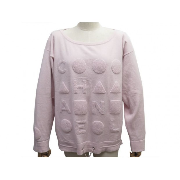 PULL CHANEL P45774 XL 46 EN CACHEMIRE ROSE PINK CASHMERE SWEATER 3900€
