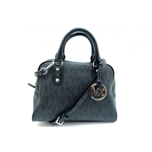 SAC A MAIN MICHAEL KORS SATCHEL SMALL 35H2SMKS1B TOILE NOIR BANDOULIERE BAG 220€