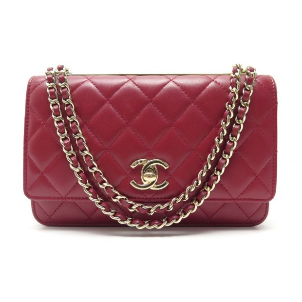 SAC A MAIN CHANEL WOC WALLET ON CHAIN ROUGE