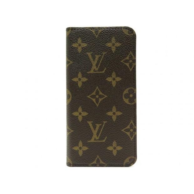 NEUF ETUI LOUIS VUITTON IPHONE 7+ 8+ EN TOILE MONOGRAM MARRON PHONE CASE 305€