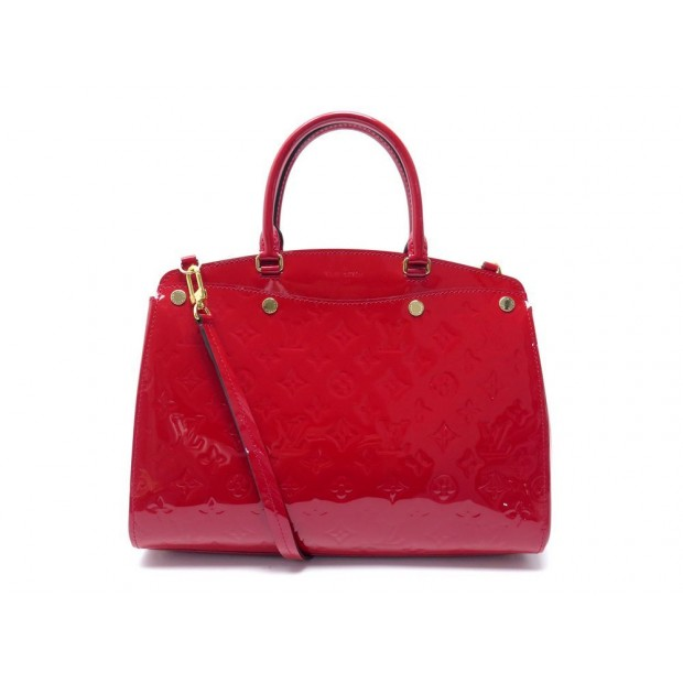 NEUF SAC A MAIN LOUIS VUITTON BREA MM M50596 CERISE CUIR MONOGRAM VERNIS 2410€