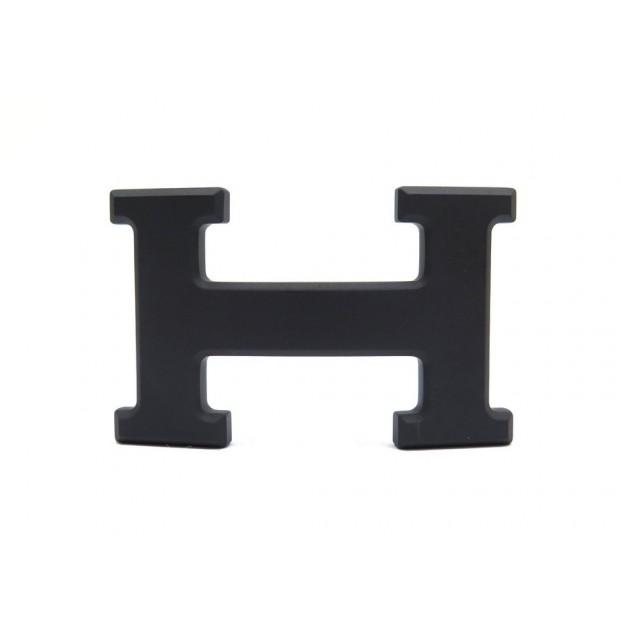 NEUF BOUCLE DE CEINTURE HERMES BOUCLE H 5382 EN METAL PLAQUE PVD MAT NOIR BUCKLE