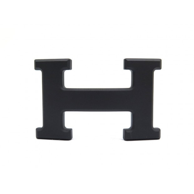 BOUCLE CEINTURE HERMES METAL PVD NOIR MAT 1