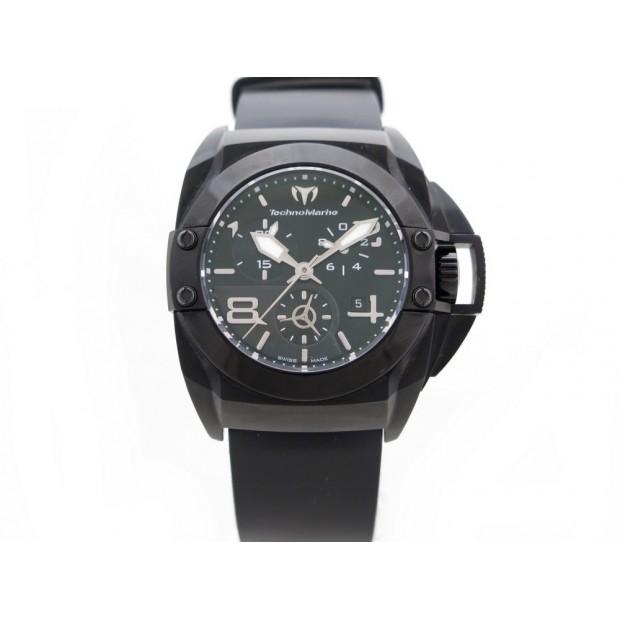 MONTRE TECHNOMARINE BLACKWATCH 908003 QUARTZ 43 MM ACIER & CAOUTCHOUC 1400€