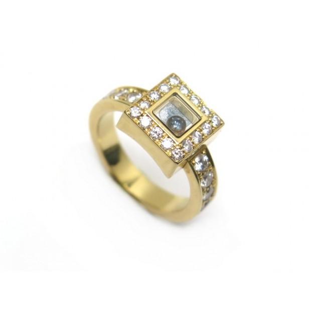 BAGUE CHOPARD HAPPY DIAMOND 82/2939-20 T53 OR JAUNE ET DIAMANTS GOLD RING 6000€