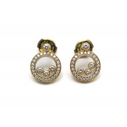 BOUCLES D OREILLES CHOPARD HAPPY DIAMONDS 83/3957-20 OR JAUNE ET DIAMANTS 6990€