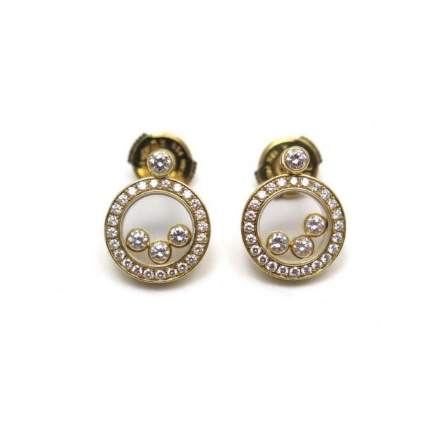 BOUCLES D OREILLES CHOPARD HAPPY DIAMONDS 83/3957-20 OR JAUNE ET DIAMANTS 6990€