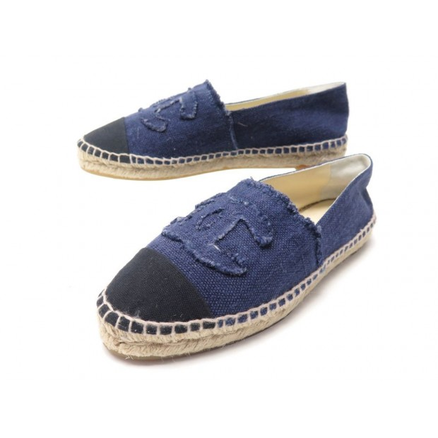 chaussures chanel espadrilles logo cc