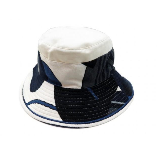 NEUF CHAPEAU HERMES EGERIE BOB 121071N 57 EN LIN & COTON ECRU LINEN HAT 305€