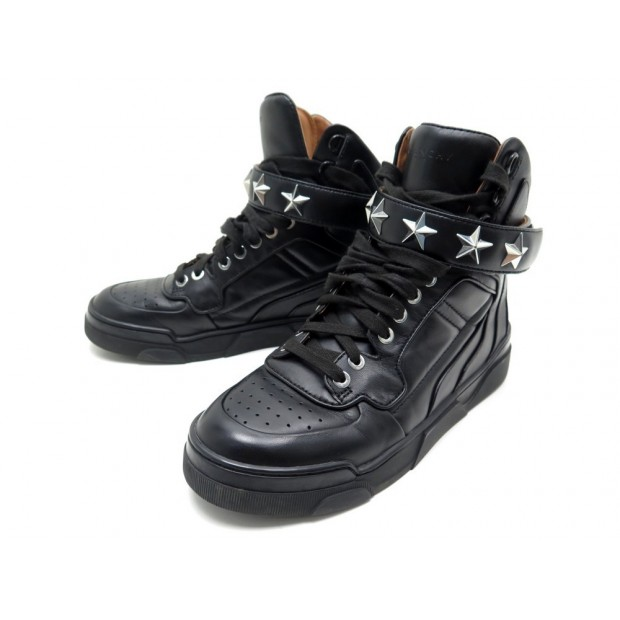 CHAUSSURES GIVENCHY TYSON BE08034005 36 36.5 BASKETS CUIR NOIR SNEAKERS 695€