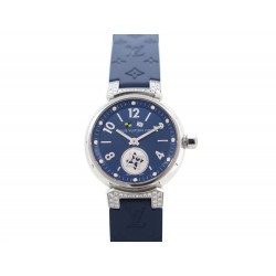 MONTRE LOUIS VUITTON TAMBOUR DIAMANTS QUARTZ + BRACELET SUPPLEMENTAIRE