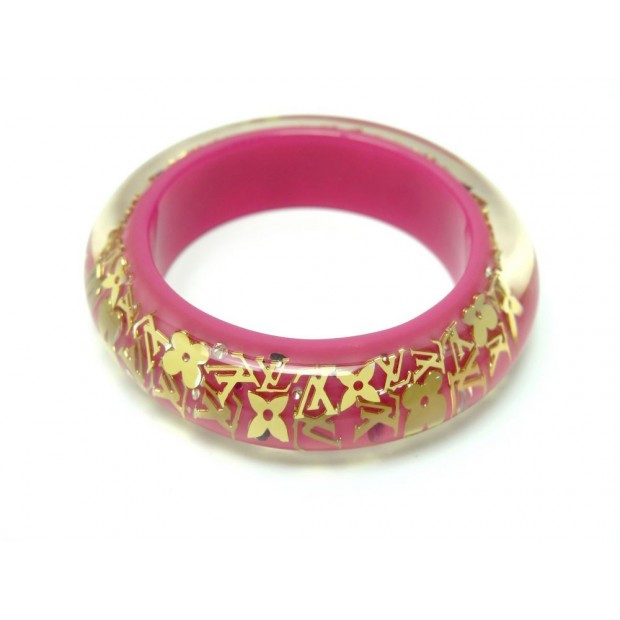 BRACELET LOUIS VUITTON INCLUSION GM MONOGRAM T19 EN RESINE ROSE PINK JEWEL 435€