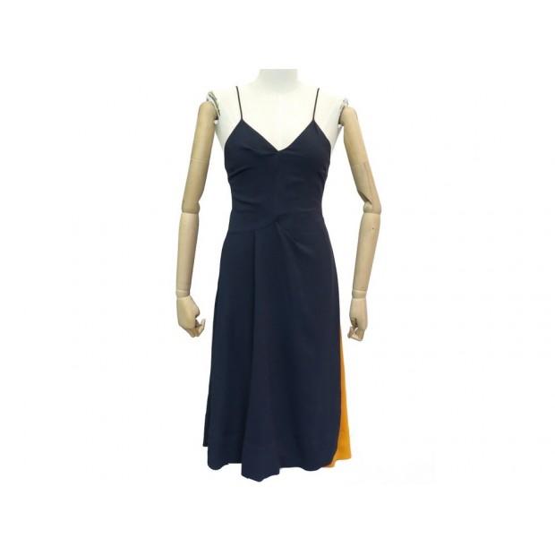 NEUF ROBE LONGUE PAUL SMITH M 40 BLEU MARINE NAVY BLUE NEW LONG DRESS 1275€