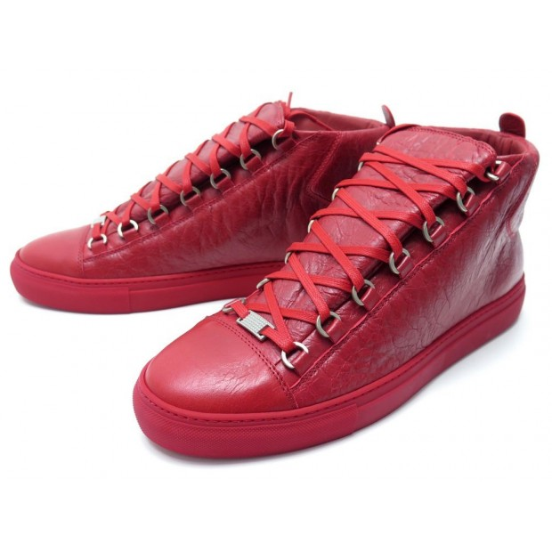 NEUF CHAUSSURES BALENCIAGA ARENA 412381 43 IT 44 FR BASKETS CUIR SNEAKERS 690€