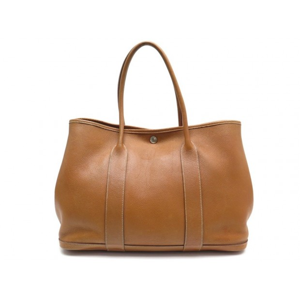 SAC A MAIN HERMES GARDEN PARTY 36 EN CUIR GOLD + BOITE LEATHER HAND BAG 2700€