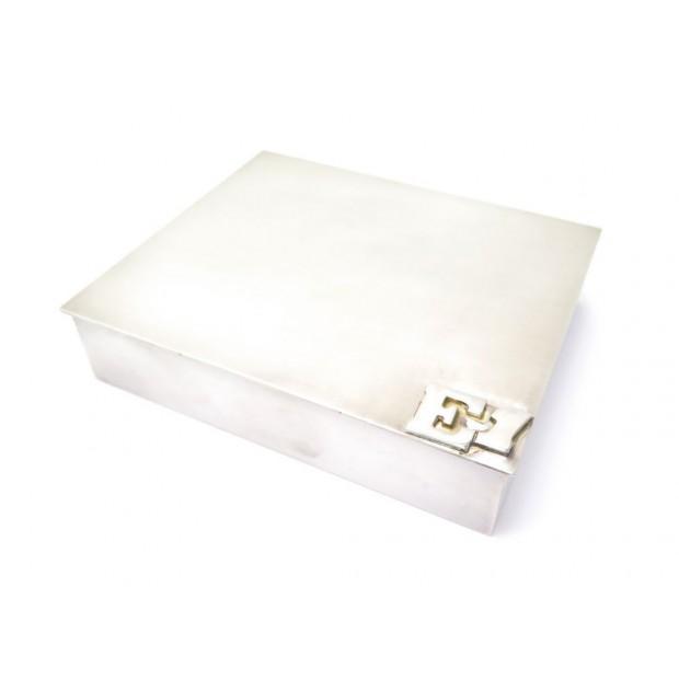 VINTAGE BOITE A CIGARETTES HERMES 12CM METAL ARGENTE SILVER PLATED CIGARET BOX