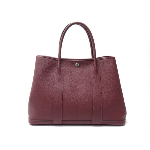 NEUF SAC A MAIN HERMES GARDEN PARTY 36 CUIR VACHE COUNTRY ROUGE + BOITE 2700€