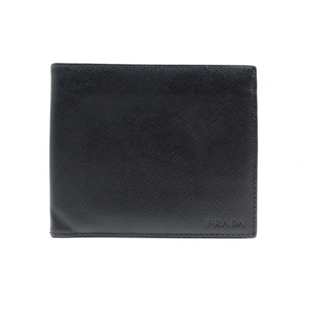 NEUF PORTEFEUILLE PRADA 2MO513 EN CUIR SAFFIANO NOIR BLACK LEATHER WALLET 360€