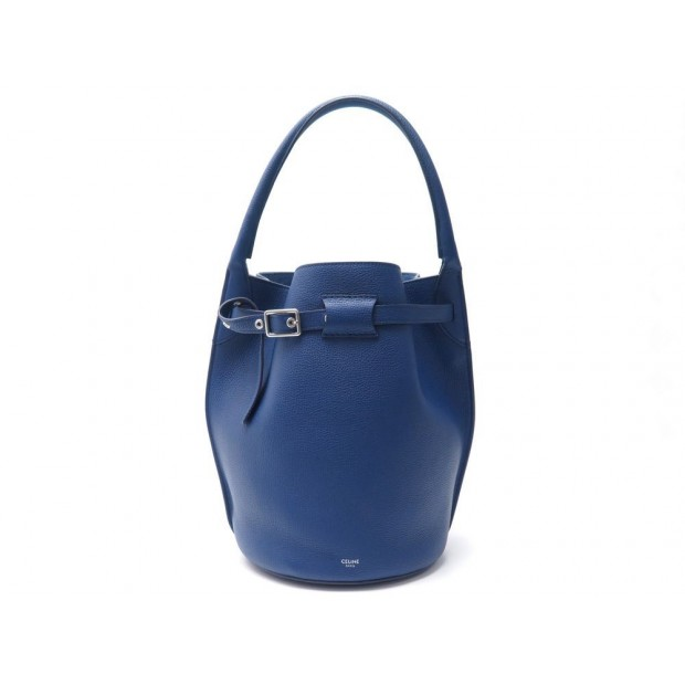 NEUF SAC A MAIN CELINE SEAU BIG BAG SMALL CUIR BLEU + POCHETTE HAND BAG 1600€
