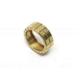 BAGUE CHOPARD ICE CUBE 823790 T52 EN OR JAUNE 16 DIAMANTS ECRIN GOLD RING 2070€