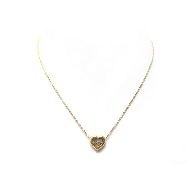 NEUF COLLIER CHOPARD HAPPY DIAMONDS ICONS 79A611 42 CM OR JAUNE 3 DIAMANTS 2490€