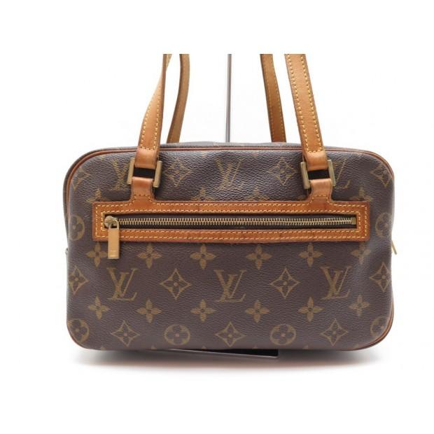 SAC A MAIN LOUIS VUITTON CITE MM TOILE MONOGRAM MARRON CUIR HAND BAG PURSE 1015€