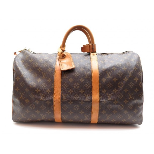SAC DE VOYAGE A MAIN LOUIS VUITTON KEEPALL 50 TOILE MONOGRAM TRAVEL BAG 1220€