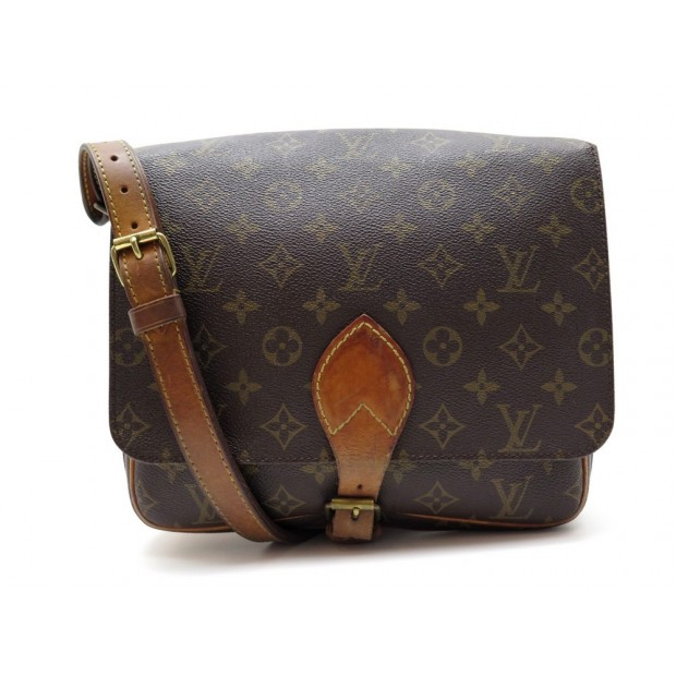 VINTAGE SAC A MAIN LOUIS VUITTON CARTOUCHIERE GM EN TOILE MONOGRAM HANDBAG 1200€