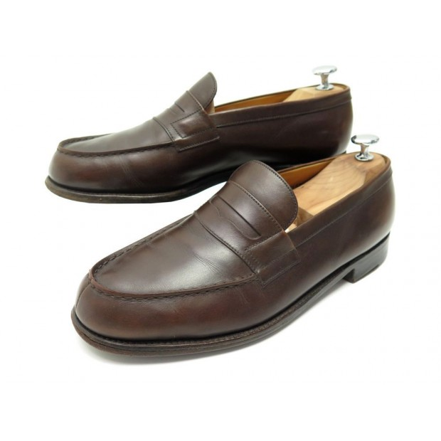 CHAUSSURES JM WESTON 180 7D 41 MOCASSINS CUIR MARRON LEATHER LOAFERS SHOES 620€